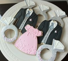 Decorated Wedding Party Cookies, Personalized Will You Be My Bridesmaid Cookies, Groomsmen, Flower Girl, Ring Bear