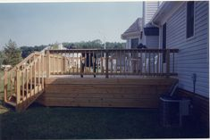 Horizontal Deck Skirting | Corner Stair With Horizontal Skirting