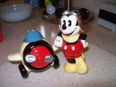MICKEY & CO. Mail Pilot Salt & Pepper Shakers by ENESCO. $16.50