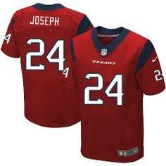Mens Nike Houston Texans http://#24 Johnathan Joseph Elite Red Alternate Jersey$129.99