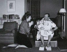 Louise Bourgeois et Joan Miro, New-York 1947