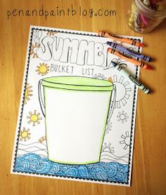 pen & paint: FREE Printable & Coloring Page - Summer Bucket List