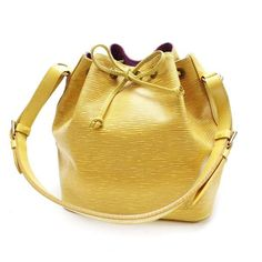 Louis Vuitton Petit Noe Epi Shoulder bags Yellow Leather M44109
