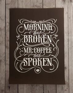 #printedgoods, #coffee, #brown