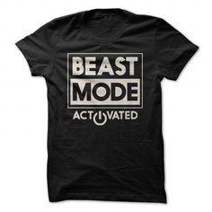 Beast Mode Activated - #mens shirt #cute shirt. GET => https://www.sunfrog.com/Sports/Beast-Mode-Activated.html?id=60505
