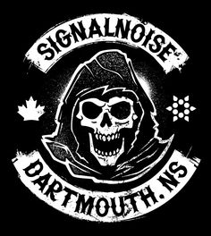 Signalnoise Biker sticker + shirt by James White