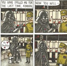 One of my favorite comics from Jeffrey Brown's new book Star Wars: Vader's Little Princess