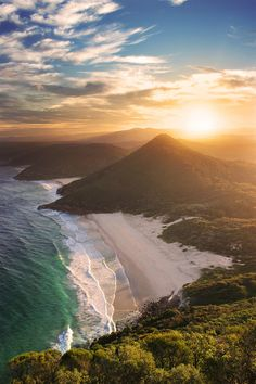 travelingcolors:        Zenith Beach, New South Wales | Australia (by Rhys Pope)    Good morning.  :)