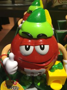 M&M's World Red Character Holiday Candy Dispenser Nwe with Tag M&m Characters, Candy Dispenser, Holiday Candy, Art Themes, Yoshi, Bowser, Character Art, Treats, Red