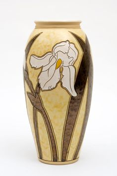 Yellow Iris Vase by BulgarUSA on Etsy, $180.00