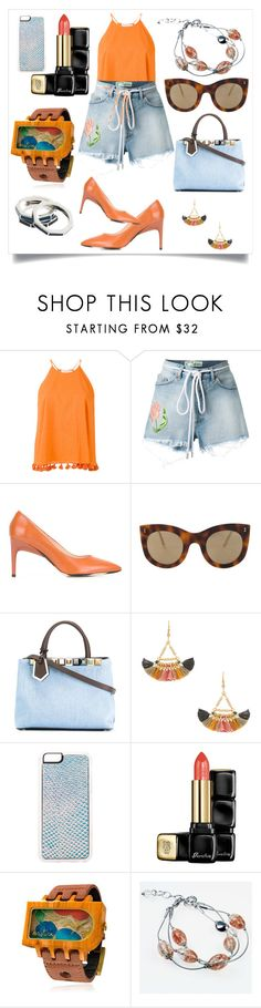 """""""Embroidered Flower Shorts..**"""" by yagna ❤ liked on Polyvore featuring Tory Burch, Off-White, PS Paul Smith, Illesteva, Fendi, Shashi, Zero Gravity, Guerlain, Mistura and Antica Murrina"""