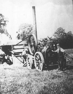 Cubbington.  Threshing machine Antique Cars, The Past, Engineering, England, Memories, Black And White, History, Random, Black White