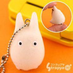 Strapya World : Studio Ghibli My Neighbor Totoro Flocking Doll Cell Phone Strap (Sho Totoro) ($1-20) - Svpply
