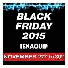 We can't wait to show you our #BlackFriday deals.  Counting down to #TGIF!