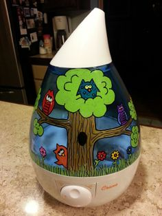 DIY Drop Cool Mist Humidifier from @Jennifer Robbins USA using Sharpie Markers and Clear Varnish