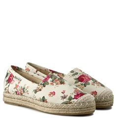 Espadrile dama inflorate cu talpa groasa de iuta Espadrilles, Flats, Shoes, Fashion, Espadrilles Outfit, Loafers & Slip Ons, Moda, Zapatos, Shoes Outlet