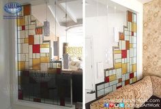 Replace your traditional glass partitions with new stained glass designs!