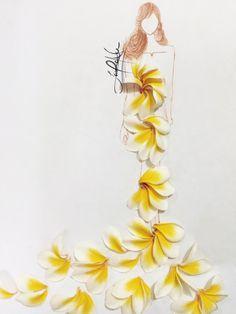 Petal Art Laurence Aquino on Talenthouse Unique Drawings, Amazing Drawings, Art Drawings, Arte Fashion, Floral Fashion, Art Floral, Flower Art Images, Deco Nature, Leaf Art