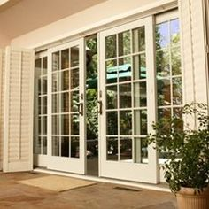 Looking for new trending french door ideas? Find 100 pictures of the very best french door ideas from top designers. French Doors With Screens, Sliding French Doors, Windows And Doors, Double Doors, Panel Doors, Sliding Glass Patio Doors, Sliding Glass Door Replacement, Replacement Patio Doors, Double Patio Doors