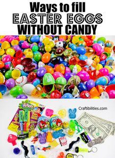 NON CANDY Easter Egg Filler IDEAS