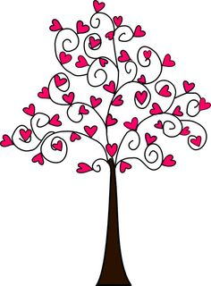 Image result for how to make a heart in a tree graphic