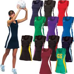 Gilbert Eclipse Netball Dress - Stretch fabric with spandex for flexibility - Netball Dresses, Stretch Fabric, Flexibility, Thighs, That Look, Spandex, Slim, Fitness, Printing