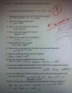 those look like good answers to me