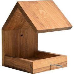 Dobar Design-Vogelhaus Eichenholz mit Satteldach Braun #woodworking