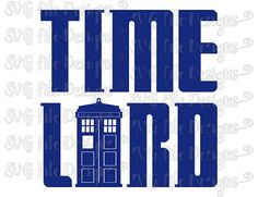 Time Lord Doctor Who Tardis Shirt Decal Cut File / Clipart in Svg, Eps, Dxf, Png, and Jpeg for Cricut & Silhouette