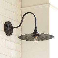 "Logan Goose Neck Outdoor Wall Sconce --- Overall: 9""H X 11 3/4""W X 16 1/2""D Back Plate: 5"" Diameter"
