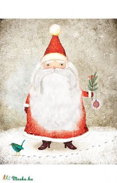 Il·lustrant el Pare Noel / Ilustrando a Papá Noel / Illustrating Santa Claus Merry Little Christmas, Father Christmas, Vintage Christmas Cards, Christmas Images, Santa Christmas, Winter Christmas, Christmas Crafts, Christmas Decorations, Christmas Print