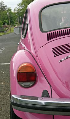 Pink Bug. Girls dream car.