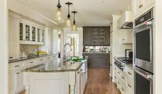 Kitchen of the Week: Creamy Cabinets and Elegant Farmhouse Style. Something fun to think about when house hunting! Call or text today let's find the perfect kitchen to remodel. Minneapolis, Small Kitchen Redo, Kitchen Items, Kitchen Decor, Blue Cabinets, Kitchen Trends, Real Estate Houses, Kitchen Cabinetry, Home Ownership