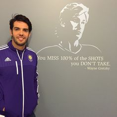 KAKA, posted on Instagram and Facebook 20 January 2015 Ricardo Kaka, Orlando City, Wayne Gretzky, Best Player, Espn, Never Give Up, Love Him, How To Look Better, January