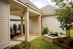 Tranquil Courtyard - Outdoor Living Space - traditional - exterior - new orleans - Highland Homes, Inc.