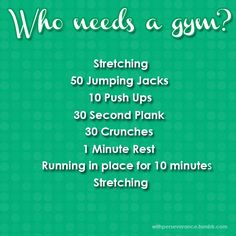 Easy work out. Okay so I can't have any excuses for not @ least doing this everyday!