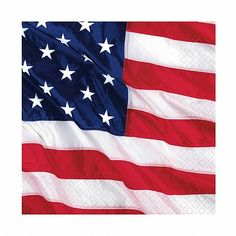 American Flying Colors Napkin will show off your #American Pride.The American #Flag napkins feature a gorgeous United States flag rustling in the wind and add the perfect finishing touch of stars and stripes to your 4th of July party.   Quantity Per Pack: - 16 American Flying Colors Napkins.  Size: - 13inches by 13inches. - 2Ply.  Independence Day is widely known for its extravagent celebrations,