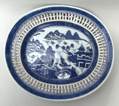 599. Rare Chinese Reticulated Blue White Charger Daoguang Period 1821-1850 - ARCHIVE SOLD ITEMS - Patrick Howard Antiques