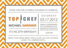 """""""Top Chef"""" Cooking Birthday Party"""
