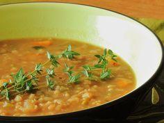 Red Lentil and Barley Soup