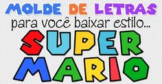 Molde de Letras e Números estilo Super Mario