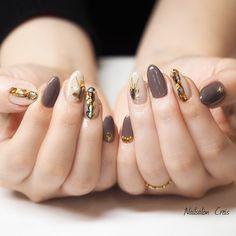 Stylish Nails, Trendy Nails, Cute Nails, Japan Nail Art, Asian Nails, Korean Nail Art, Elegant Nail Art, Gel Nail Art Designs, Pointed Nails