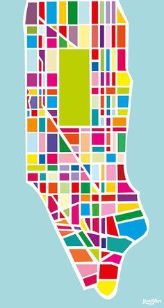 ART | The island of Manhattan art print