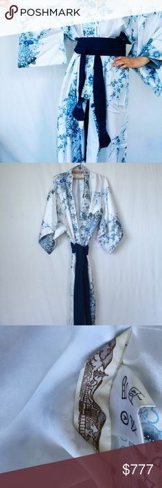 """Vintage Japanese Kimono Duster EUC vintage Japanese kimono duster -looks unused, however has a slight vintage scent                          ▪️made in Japan 100% polyester  ▪️approximate length 54.5""""  🌻please ask ?s prior to purchase & rqst additional photos 🌻with all vintage items there may be signs of age & use-only severe/impactful issues will be noted & items should always be cleaned before wear Vintage Tops"""