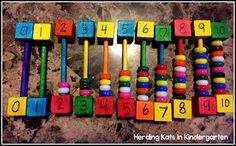 fine motor math activity for number recognition and counting! Math Monday Number Recognition Freebie!