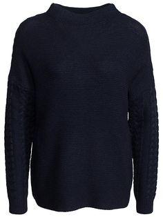 Onlmarcella L/S Highneck Pullover K - Only - Mörk Blå - Tröjor - Kläder - Kvinna - Nelly.com