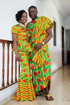 Kente Styles Mixed With Lace Attires For African. kente styles with lace fabrics have always created African Attire, African Wear, African Dress, African Print Fashion, Africa Fashion, Ankara Fashion, Fashion Dresses, Kente Dress, Kente Styles