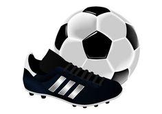 bilde fotball sko og ball