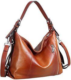 Heshe Vintage Women's Leather Shoulder Handbags Totes Top Handle Bags Cross Body Bag Satchel Handbag Ladies Purses (Sorrel-R) #bags