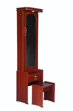 Dressing Table Storage, Dressing Table With Stool, Dressing Table Mirror, Door Shelves, Dresser Sets, Wooden Stools, Engineered Wood, Home Kitchens, Tall Cabinet Storage